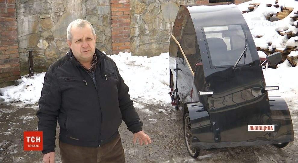 Львовский умелец сконструировал электромобиль. Видео