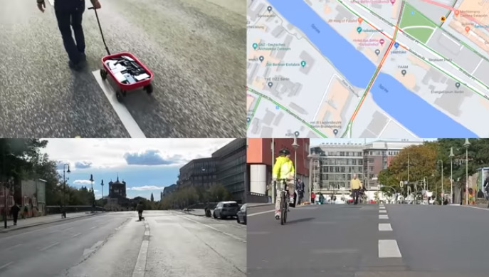 Художник заставил Google Maps зафиксировать несуществующие пробки на улицах